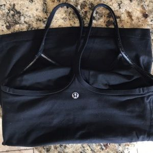 Lululemon power Y Tank Black Size 4